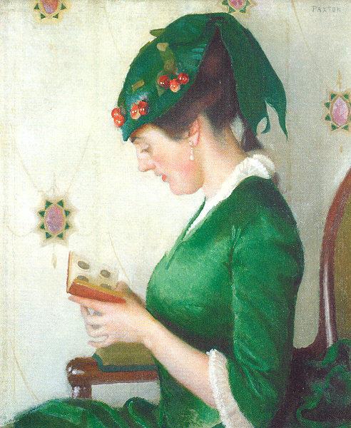 Уильям Мак-Грегор Пэкстон. Девушка в зеленом платье