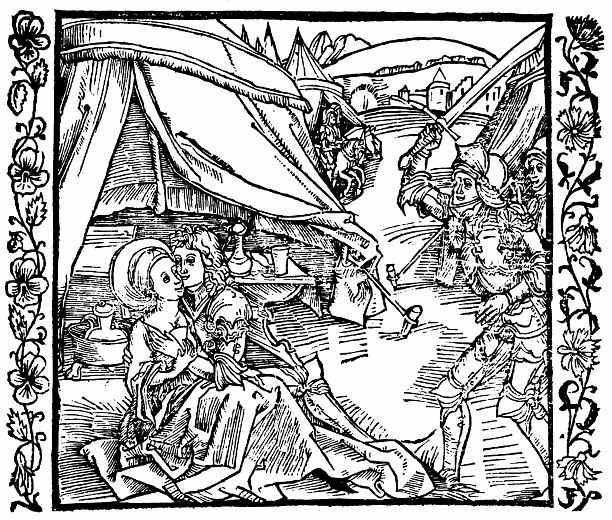 Альбрехт Дюрер. Рыцарь-израильтянин убивает соплеменника, застигнув его с язычнице