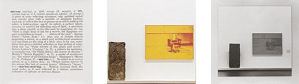 Joseph Kosuth. One and three mirrors