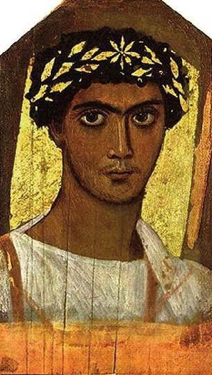 Египетский Мастер. Портрет юноши в золотом венке