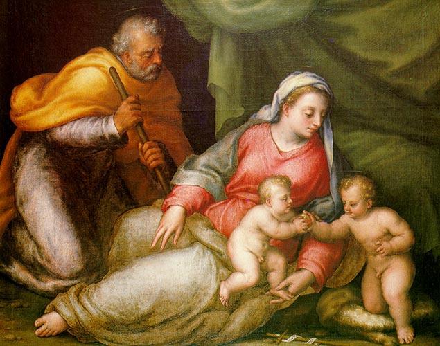 Sebastiano Filippi (Bastianino). Holy family with child John