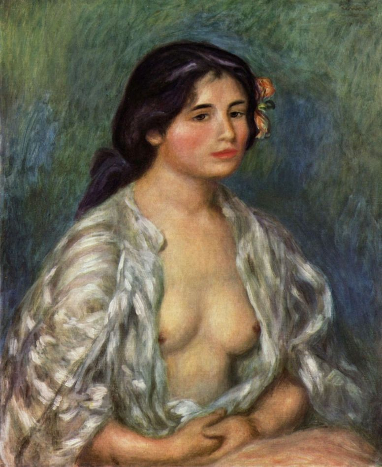 Pierre-Auguste Renoir. Gabrielle in open blouse