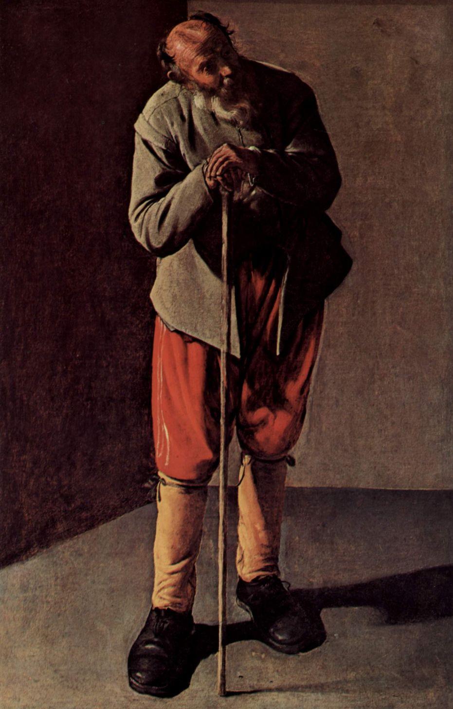 Georges de La Tour. Portrait of an elderly man