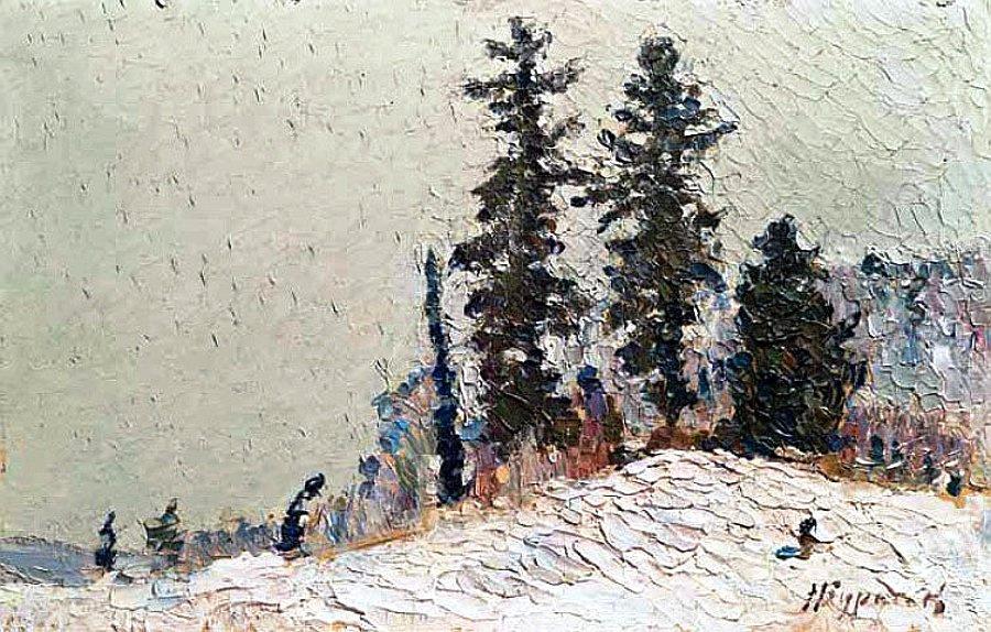 Николай Григорьевич Бурачек. Winter landscape