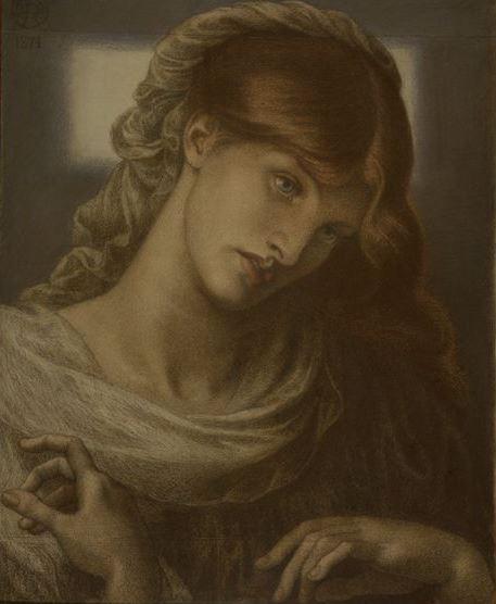 """Данте Габриэль Россетти. Портрет молодой женщины. Эскиз для картины """"Римская вдова"""""""
