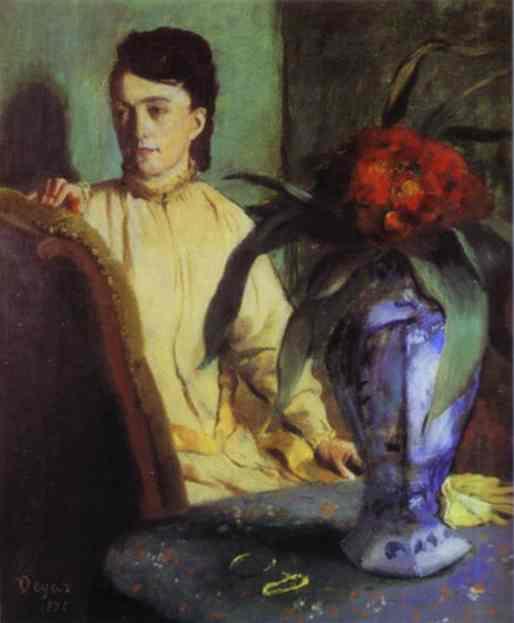 Эдгар Дега. Женщина с восточной вазой