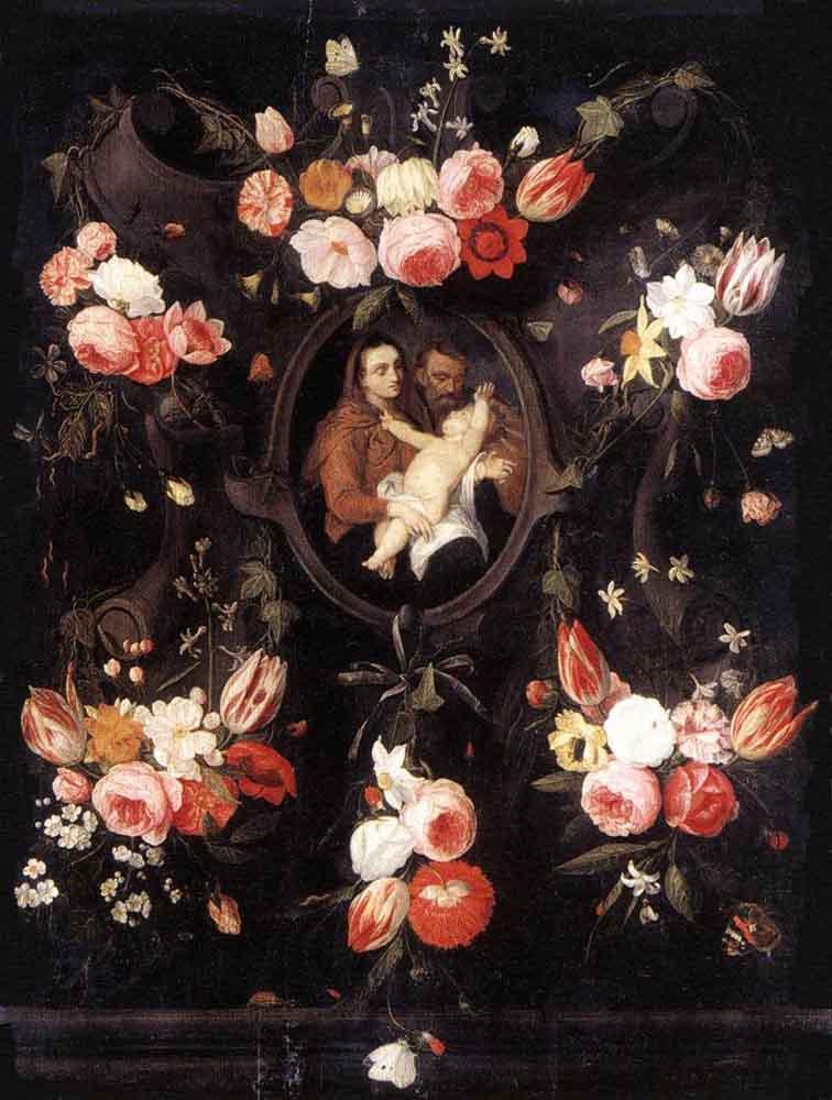Jan van Kessel Elder. Holy family