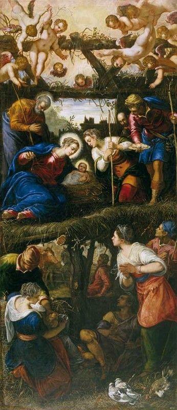 Jacopo Tintoretto. The adoration of the shepherds