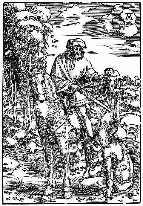 Ханс Бальдунг. Святой Мартин и нищий