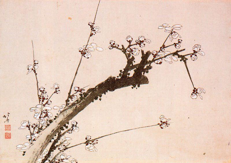 Кацусика Хокусай. Ветка