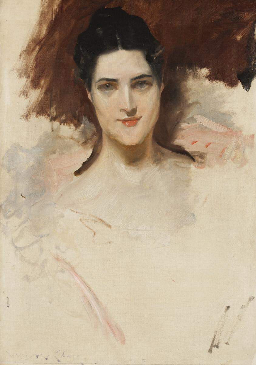 William Merritt Chase. Mrs. William Clark