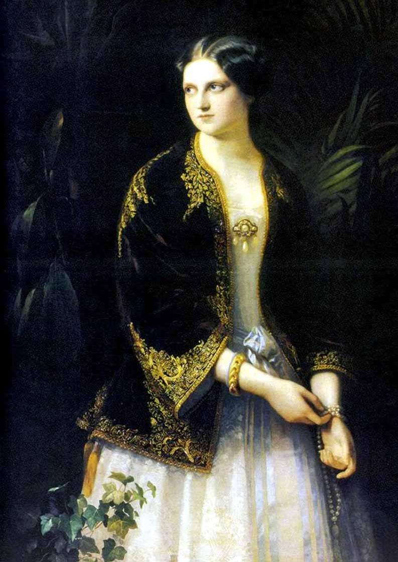 Timofey Andreevich Neff. Portrait of Grand Duchess Catherine Mikhailovna.