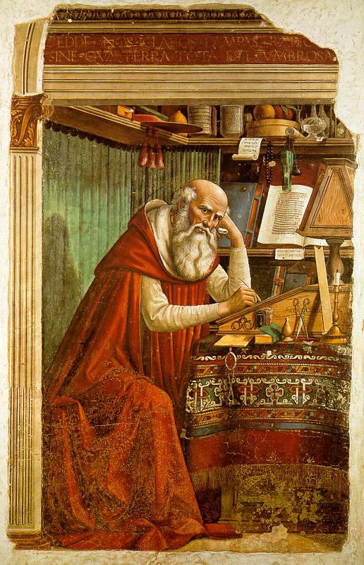 Domenico Girlandajo. Saint Jerome in his study
