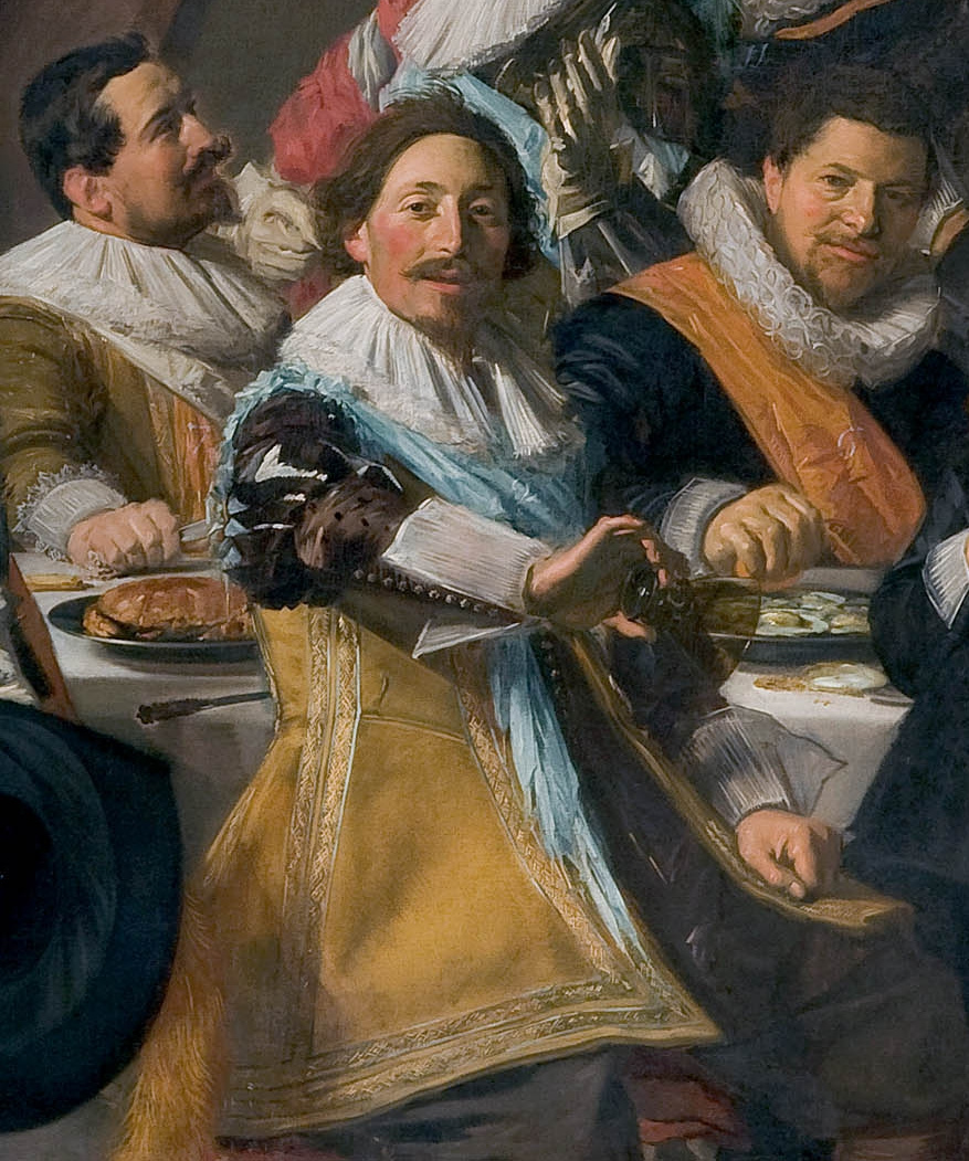 Frans Hals. Group portrait of officers of a rifle company of sv. George Fragment 2