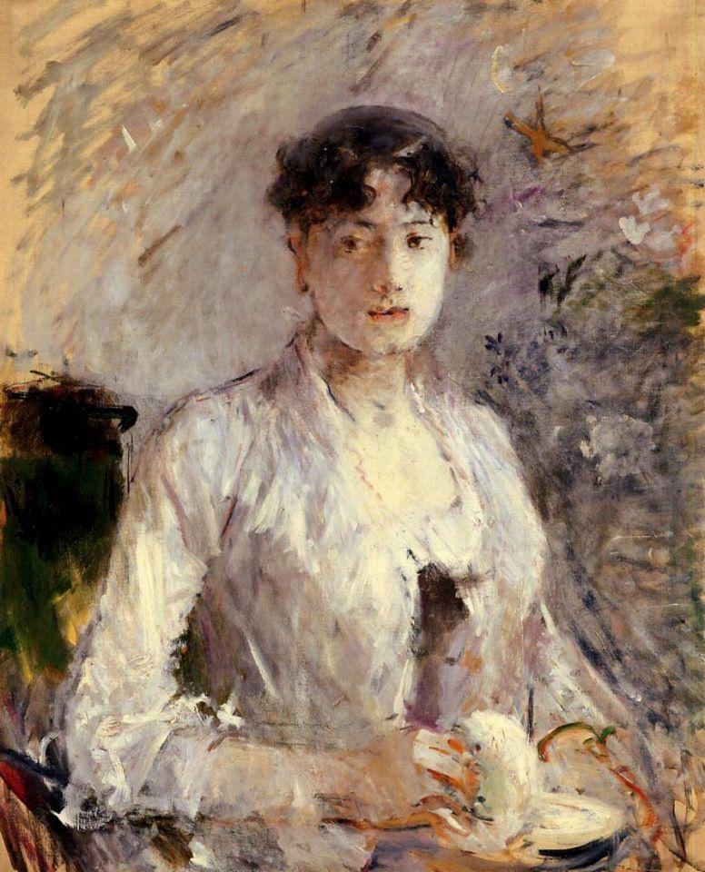 Берта Моризо. Молодая женщина в светло-сиреневом