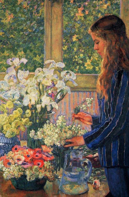 Theo van Rysselberghe. Garden flowers