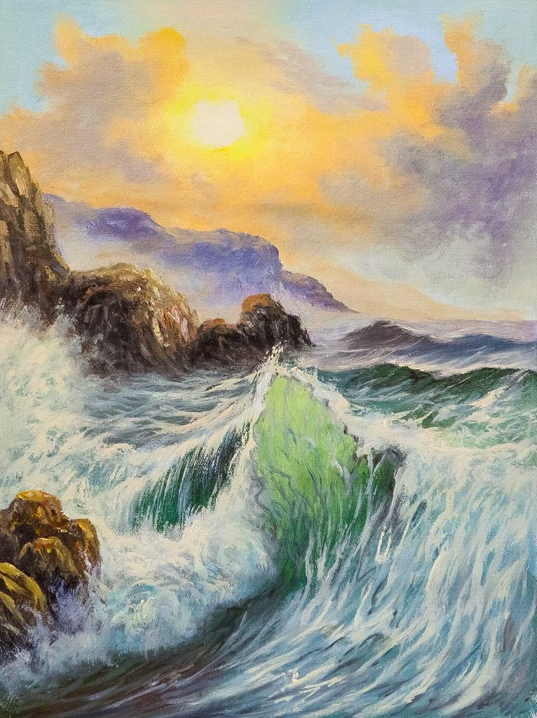 Daria Feliksovna Lagno. Emerald waves and sun