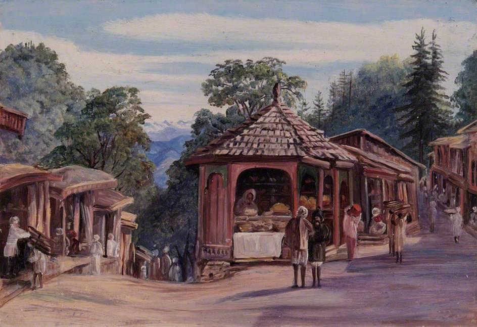 Марианна Норт. Базар. Шимла, Индия
