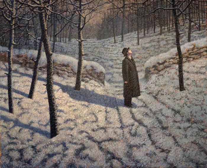 Марк Эдвардс. Man in the winter forest