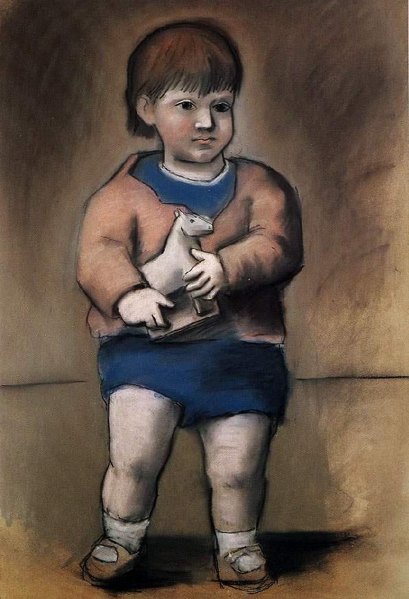 Пабло Пикассо. Ребенок с игрушечной лошадкой (Пауло)