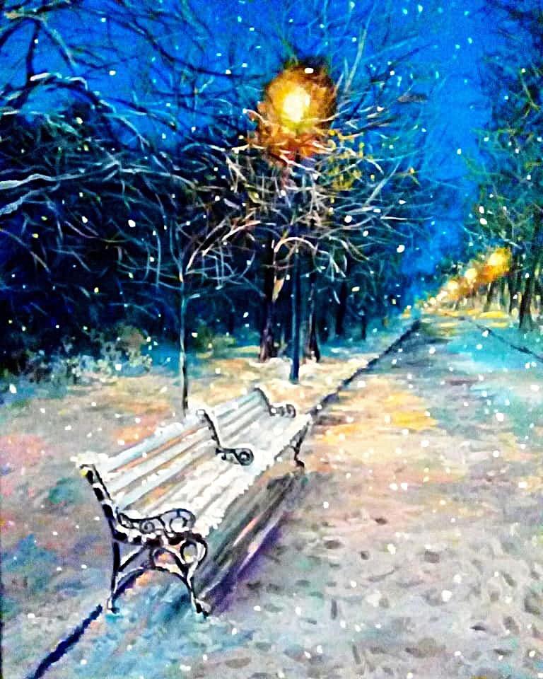 Marina Vladimirovna Patrikeeva. Evening winter alley