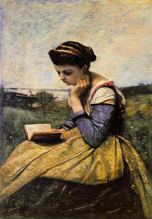 Камиль Коро. Женщина читает