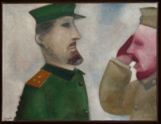 Марк Захарович Шагал. Солдаты
