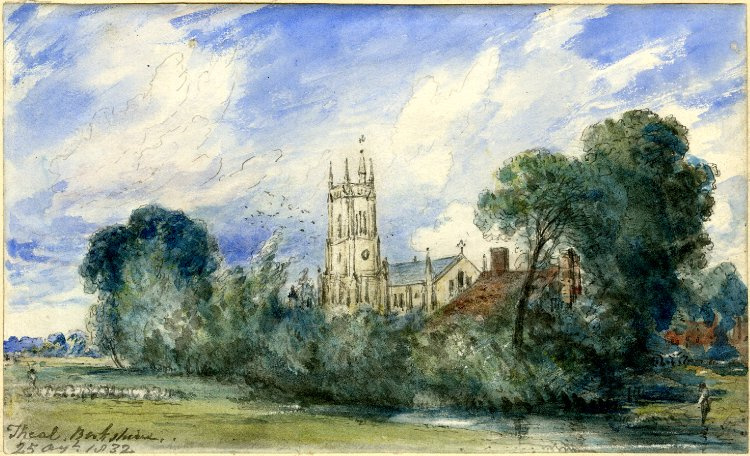 John Constable. The Church and the meadow in Berkshire