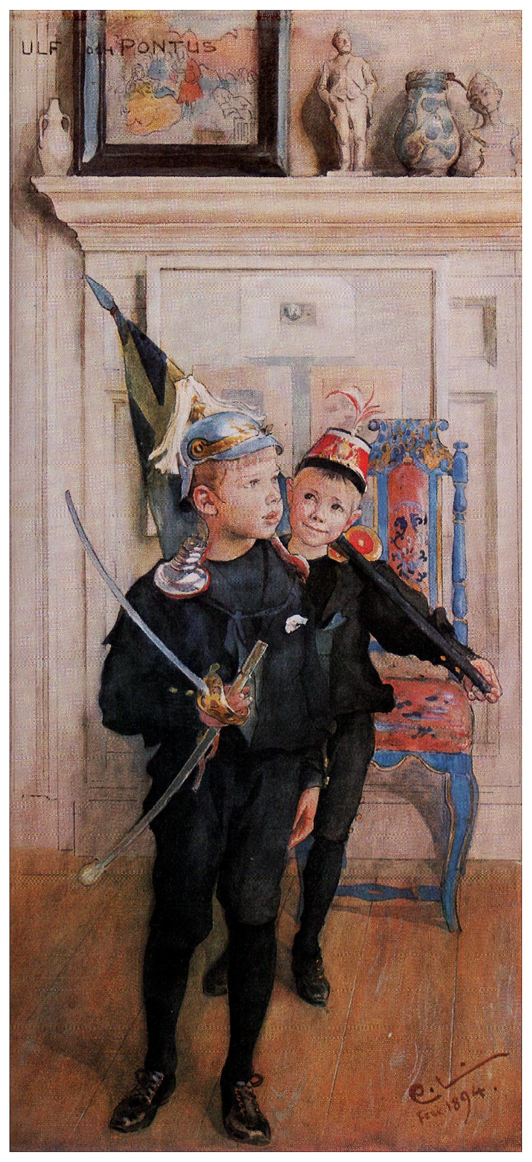 Carl Larsson. The sons of Ulf and Pontus