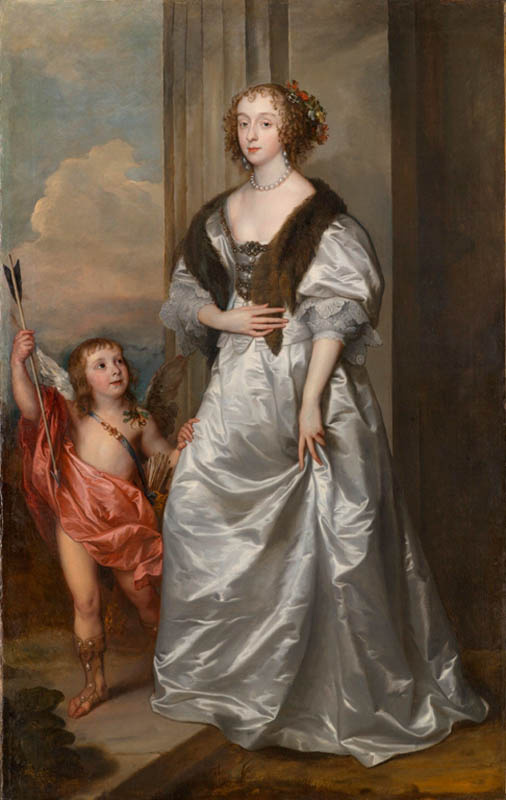 Anthony van Dyck. Lady Mary Villiers, later Duchess of Richmond and Lennox, with Charles Hamilton, Lord Arran