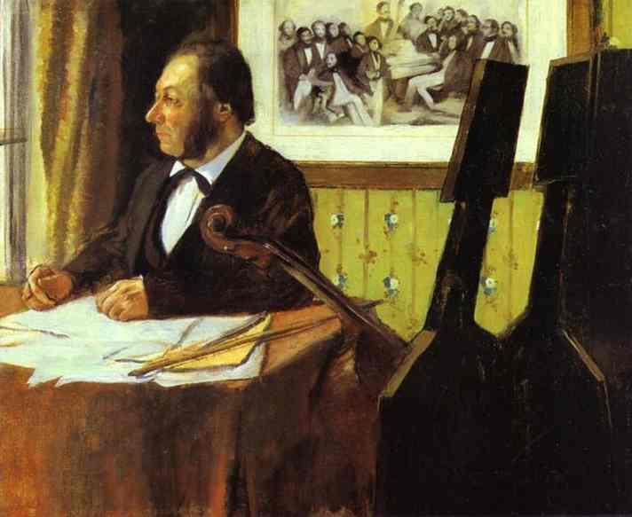 Эдгар Дега. Портрет Луи-Мари Пиллета, виолончелиста оперного оркестра