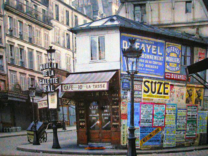 Historical photos. Posters in Paris 1910