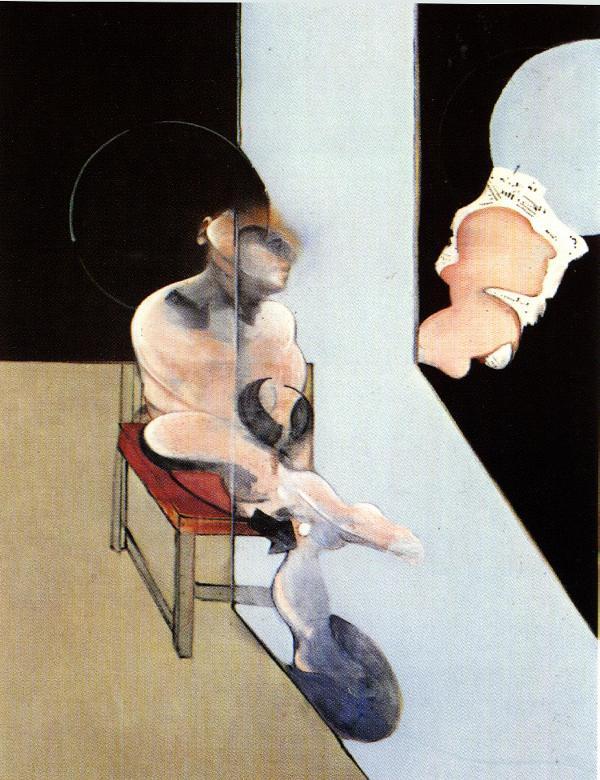Фрэнсис Бэкон. Мужчина сидит на красном стуле