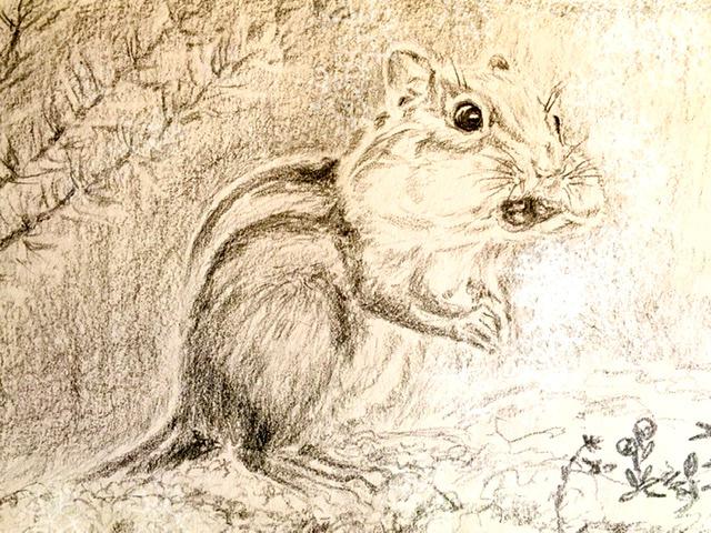 Tatiana Lagunova. Beast chipmunk