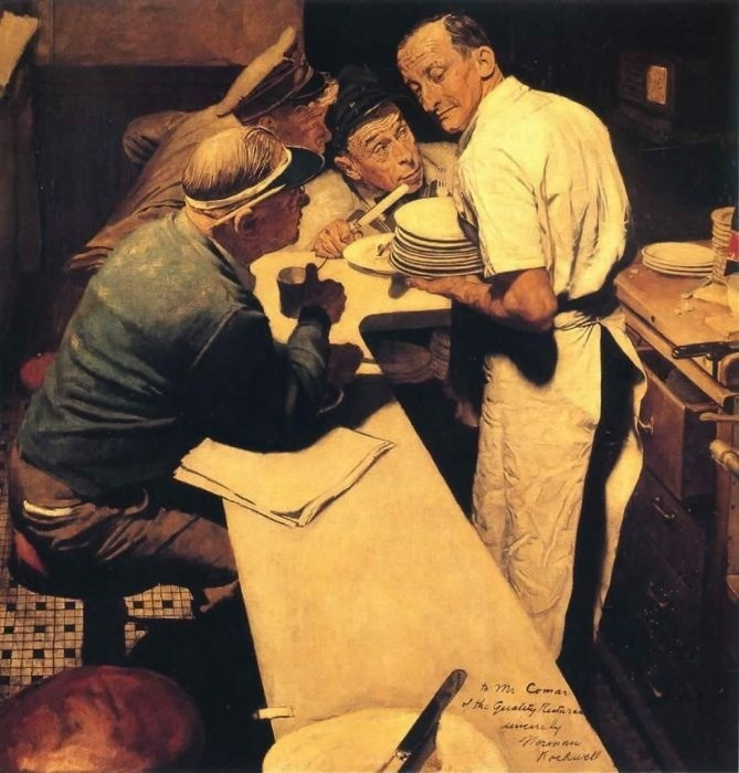 Norman Rockwell. News from the front