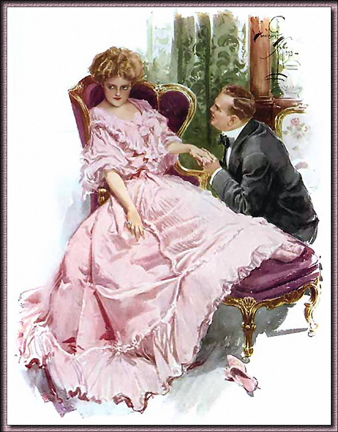 Harrison Fisher. Courting a girl