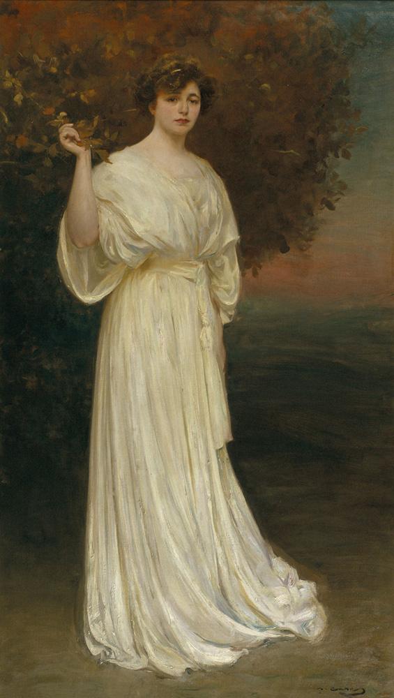 Рамон Касас Карбо. Сеньора Баладиа в белом платье