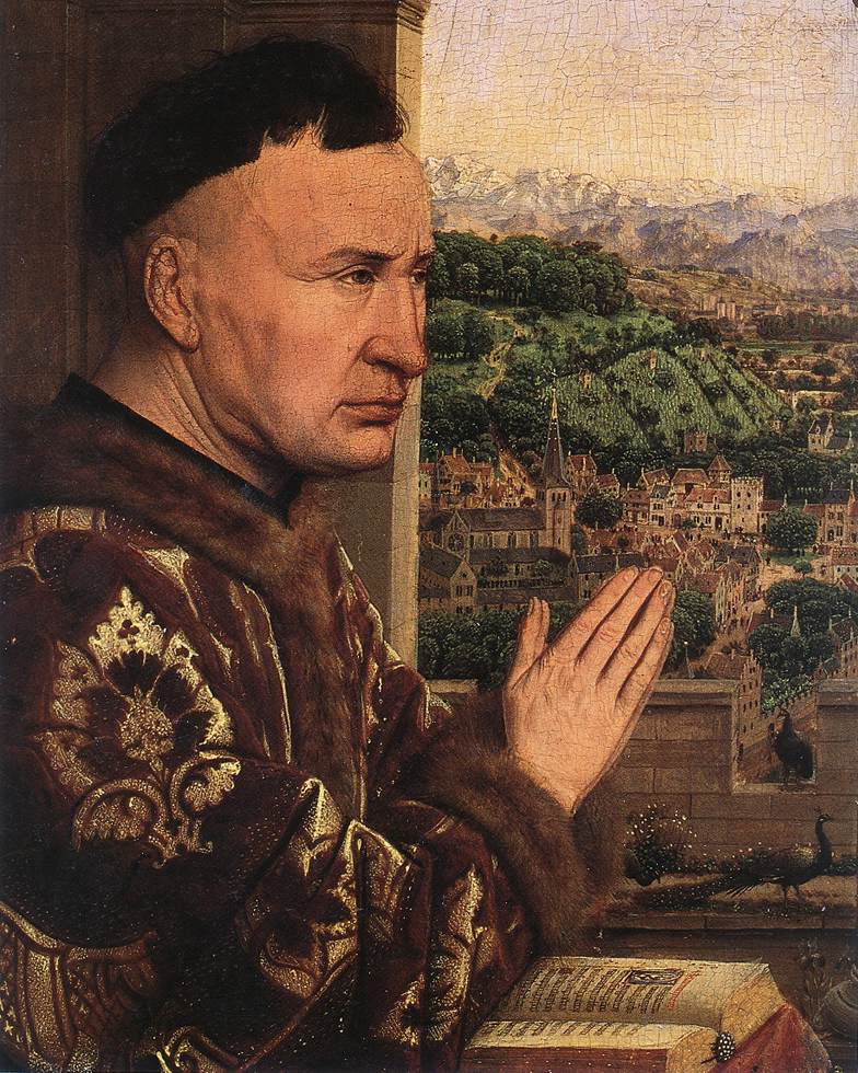 Jan van Eyck. Madonna of Chancellor Rolena (fragment)