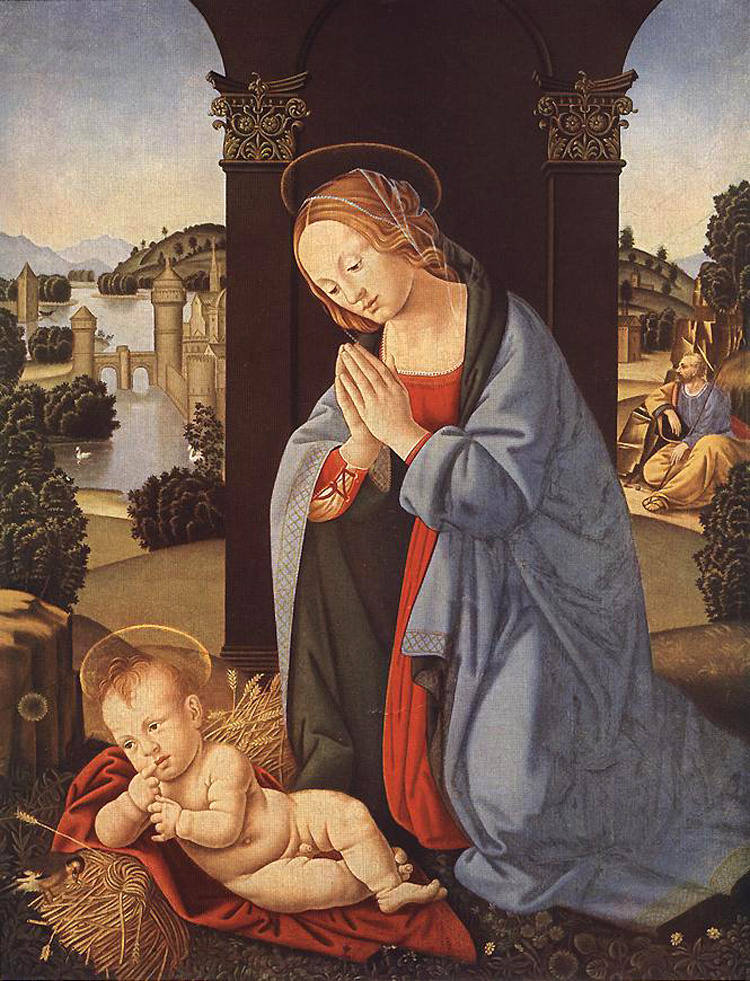 Lorenzo di Credi. Holy family