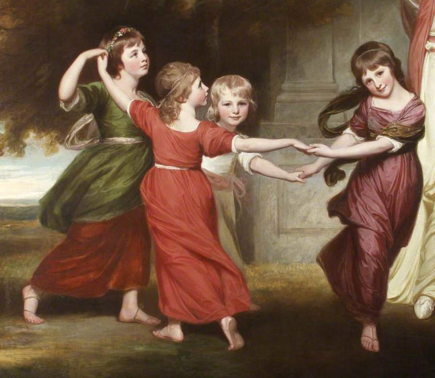 Джордж Ромни. Дети Гранвиль, семья 2-го графа Гауэра. Фрагмент
