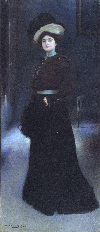 Ramon Casas i Carbó. Portrait of Isabel Llorac