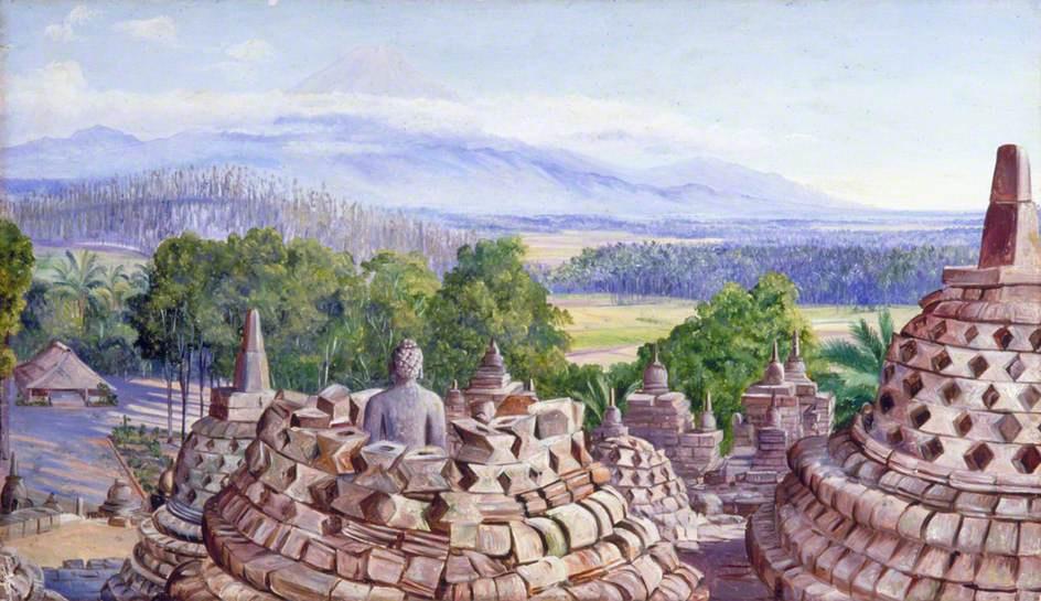 Марианна Норт. Храм с видом на вулкан, Ява