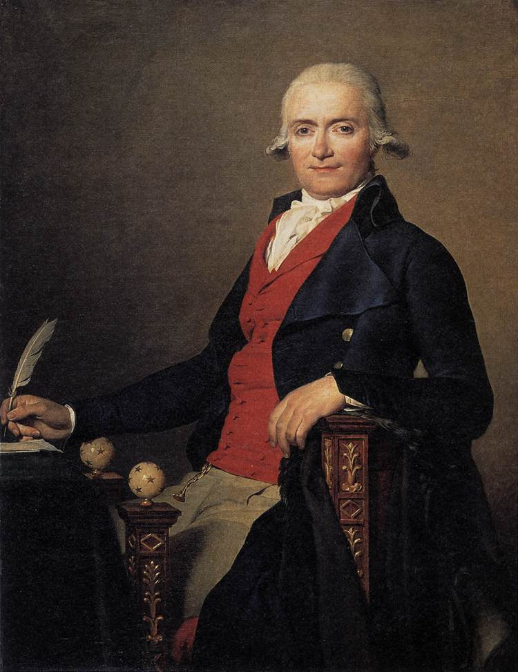 Jacques-Louis David. Portrait of Gaspard Meyer or the man in the red vest