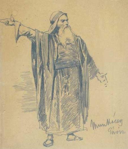 Михай Либ Мункачи. Портрет бородатого мужчины