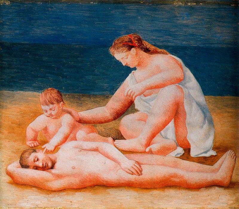 Ю. Пуджиес. Семья на пляже