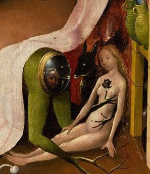 Hieronymus Bosch. The garden of earthly delights. Music Hell. Right wing. Fragment