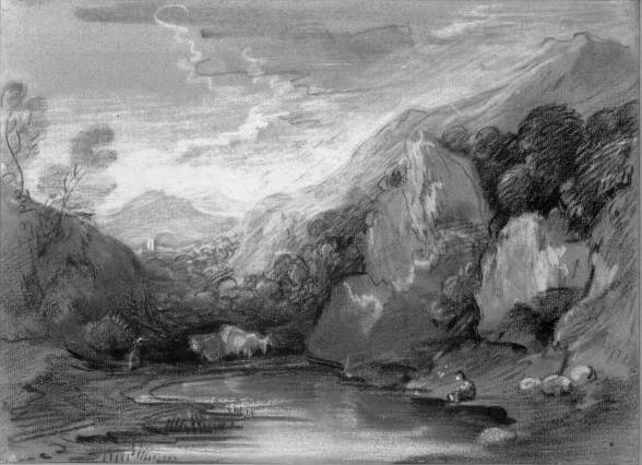 Thomas Gainsborough. Pond in the mountains