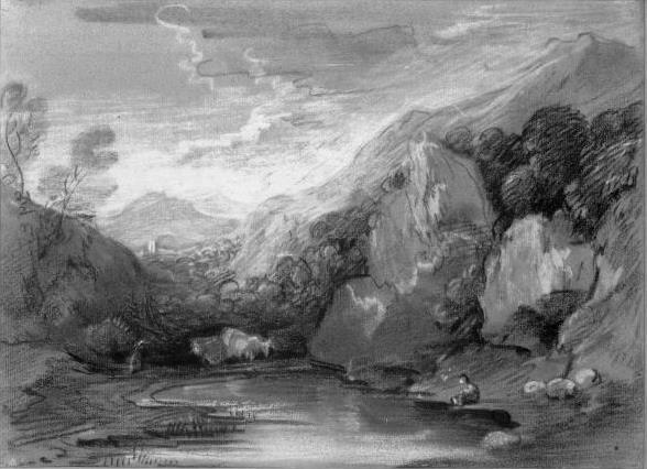 Томас Гейнсборо. Пруд в горах