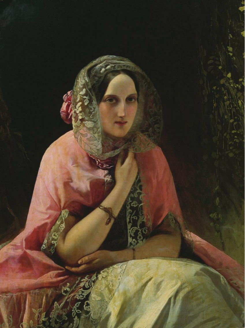 Timofey Andreevich Neff. Portrait of the Great Prince Maria Nikolaevna. State Tretyakov Gallery, Moscow.