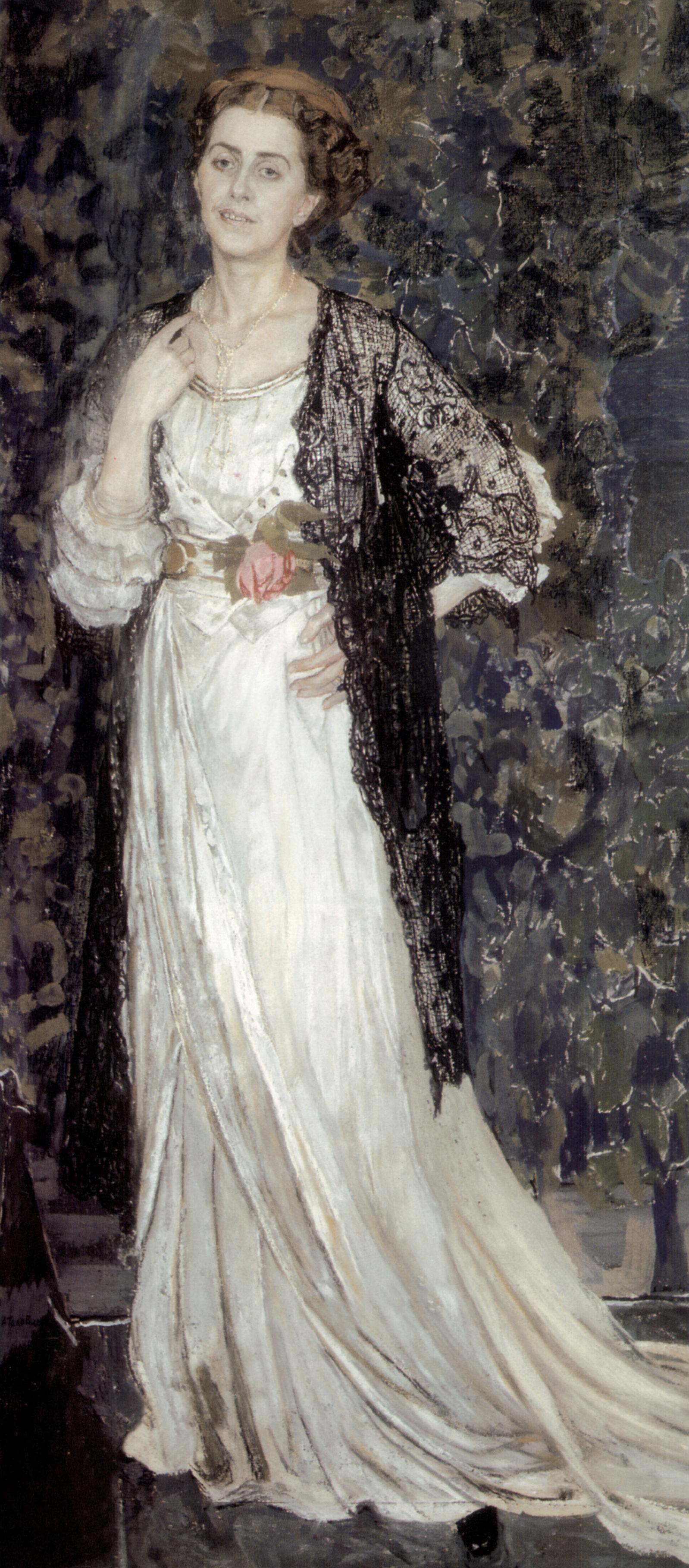 Alexander Yakovlevich Golovin. A Portrait Of Marina Makovskaya Erastovna